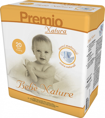 20 PANNOLINI - Bebè Natura TAGLIA 14/25 KG