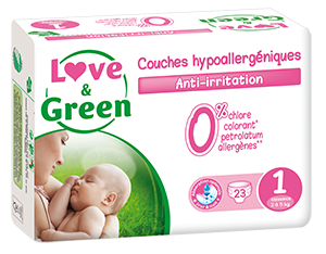 23 PANNOLINI - LOVE&GREEN TAGLIA 2/5 KG