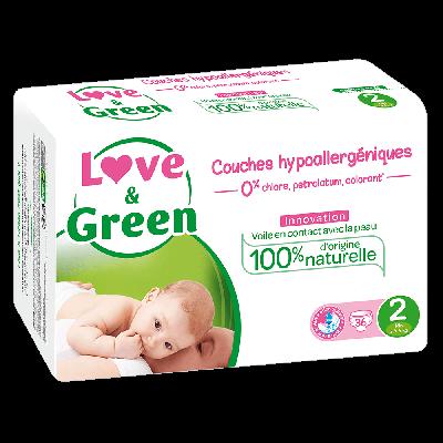 36 PANNOLINI - LOVE&GREEN TAGLIA 3/6 KG
