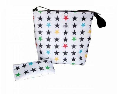 BORSA MAMMA STARS white My Bags