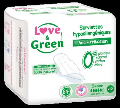 ASSORBENTI ECOLOGICI SUPER CON ALI Love&Green