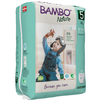 19 PANNOLINI MUTANDINA - BAMBO NATURE TAGLIA 12/18 KG