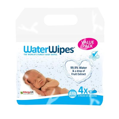 SALVIETTE DETERGENTI ALL'ACQUA D'IRLANDA PACK 4X60 pz Water Wipes