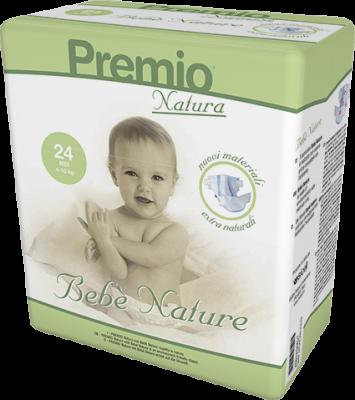 144 PANNOLINI - Bebè Natura TAGLIA 4/10 KG
