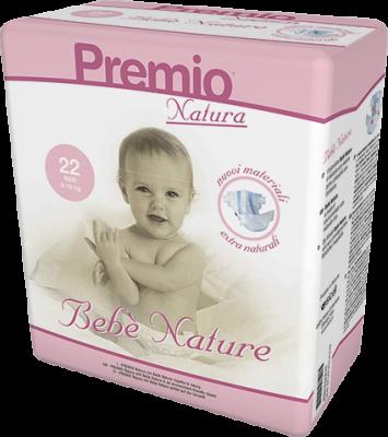 132 PANNOLINI - Bebè Natura TAGLIA 8/16 KG