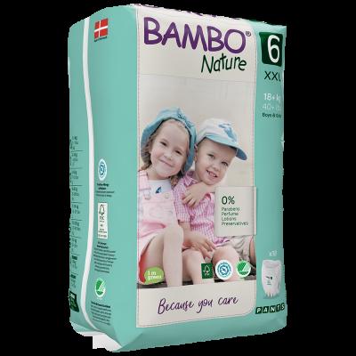 90 PANNOLINI MUTANDINA - BAMBO NATURE TAGLIA +18 KG
