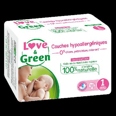 69 PANNOLINI - LOVE&GREEN TAGLIA 2/5 KG