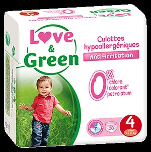 80 PANNOLINI MUTANDINA - LOVE&GREEN TAGLIA 8/15 KG