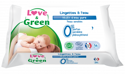 SALVIETTE BIODEGRADABILI ACQUA MICELLARE 56 pz Love&Green