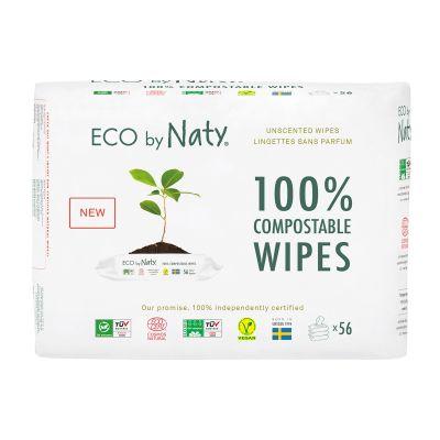 SALVIETTE COMPOSTABILI PACK 3X56 pz Eco by Naty