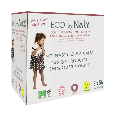 SALVIETTE COMPOSTABILI PACK 3X56 pz Eco by Naty