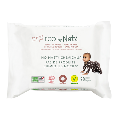 SALVIETTE COMPOSTABILI POCKET 20 pz Eco by Naty