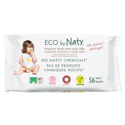 SALVIETTE COMPOSTABILI ALOE 56 pz Eco by Naty