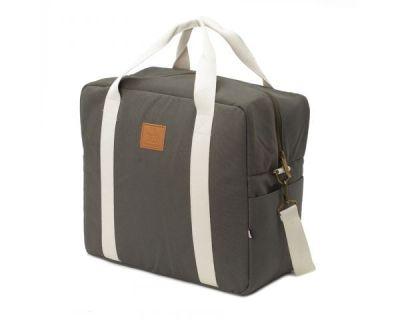 BORSA CAMBIO CON GANCI UNIVERSALI PASSEGGINO Happy Family Grey My Bags