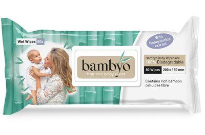 SALVIETTE BABY BIODEGRADABILI 80 pz Bambyo