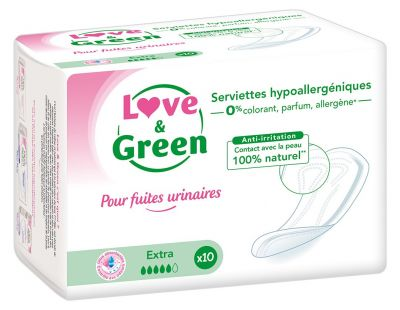 ASSORBENTI ECOLOGICI POST PARTO EXTRA 10 pz Love&Green