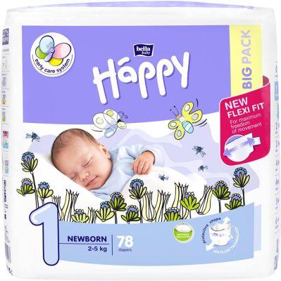 PANNOLINI TAGLIA 1 NEWBORN 2/5 Kg Happy