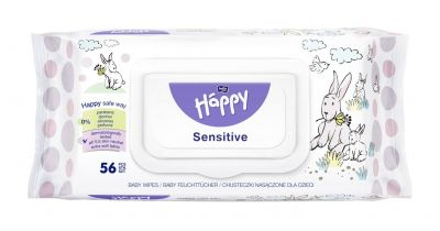 SALVIETTE SENSITIVE ALOE VERA 56 pz Happy