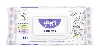SALVIETTE SENSITIVE ALOE VERA 56 pz Happy