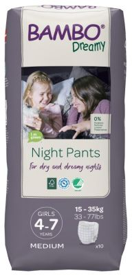 PANNOLINI A MUTANDINA NIGHT PANTS GIRL 4 - 7 ANNI Bambo Nature