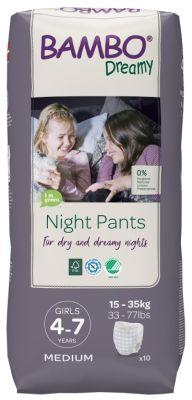 PANNOLINI A MUTANDINA NIGHT PANTS GIRL 4 - 7 ANNI Bambo Nature