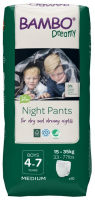 PANNOLINI A MUTANDINA NIGHT PANTS BOY 4 - 7 ANNI Bambo Nature