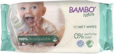 SALVIETTE BIODEGRADABILI 50 pz Bambo Nature