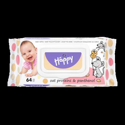 SALVIETTE BABY AVENA e PANTENOLO 64 pz Happy