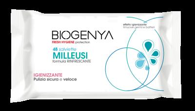SALVIETTE MILLEUSI con ANTIBATTERICO 48 pz Biogenya