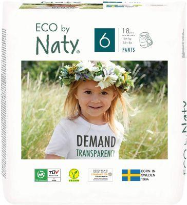 PANNOLINI MUTANDINA TAGLIA 6 Eco by Naty +16 Kg