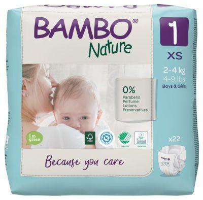 PANNOLINI TAGLIA 1 NEWBORN 2/4 Kg Bambo Nature