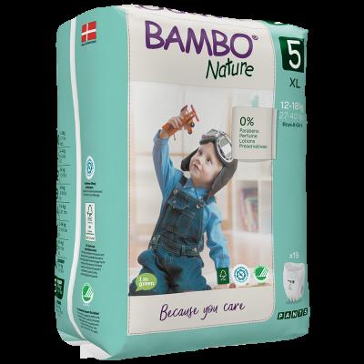 PANNOLINI MUTANDINA TAGLIA 5 Bambo Nature 12/18 Kg