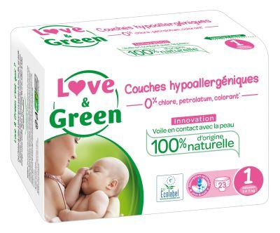PANNOLINI TAGLIA 1 NEWBORN 2/5 Kg Love&Green