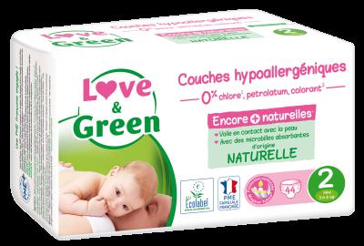PANNOLINI TAGLIA 2 MINI 3/6 KG Love&Green