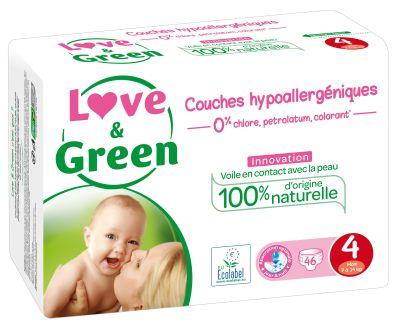 PANNOLINI TAGLIA 4 MAXI 7/14 KG Love&Green