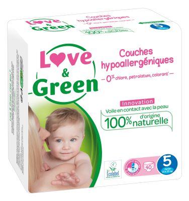 PANNOLINI TAGLIA 5 JUNIOR 11/25 KG Love&Green