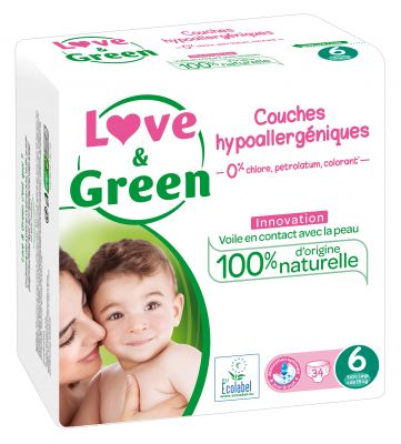 PANNOLINI TAGLIA 6 EXTRA LARGE +15 KG Love&Green