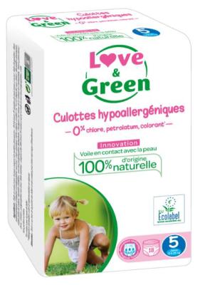 PANNOLINI MUTANDINA TAGLIA 5 Love&Green 12/18 Kg