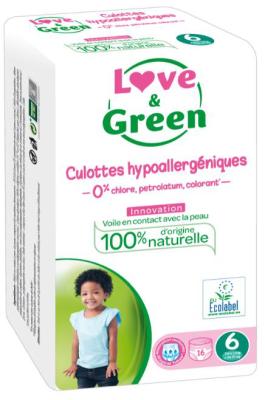 PANNOLINI MUTANDINA TAGLIA 6 Love&Green +16 Kg