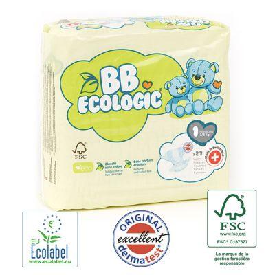 PANNOLINI TAGLIA 1 BB Ecologic TAGLIA 2/5 KG