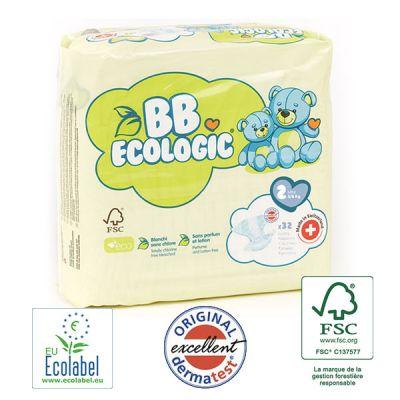 PANNOLINI TAGLIA 2 BB Ecologic TAGLIA 3/6 KG
