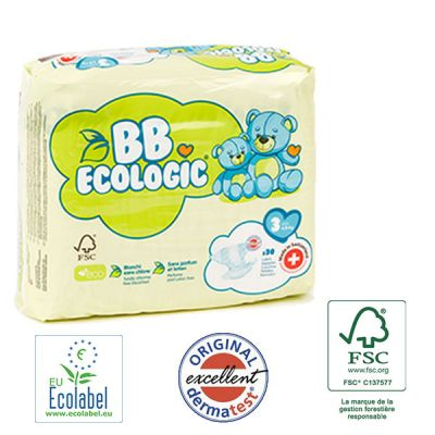 PANNOLINI TAGLIA 3 BB Ecologic TAGLIA 4/9 KG