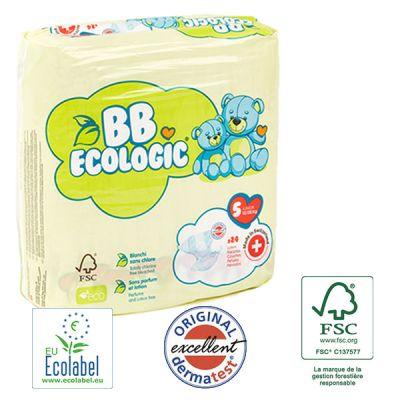 PANNOLINI TAGLIA 5 BB Ecologic TAGLIA 12/25 KG