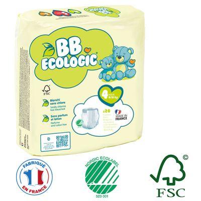PANNOLINI MUTANDINA TAGLIA 4 BB Ecologic 8/15 Kg