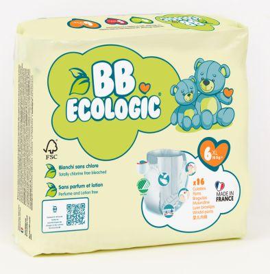 PANNOLINI MUTANDINA TAGLIA 6 BB Ecologic +16 Kg