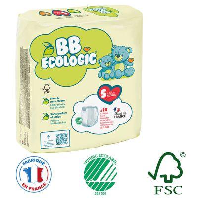 PANNOLINI MUTANDINA TAGLIA 5 BB Ecologic 12/18 Kg