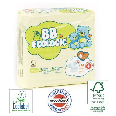 PANNOLINI TAGLIA 6 BB Ecologic TAGLIA +16 KG