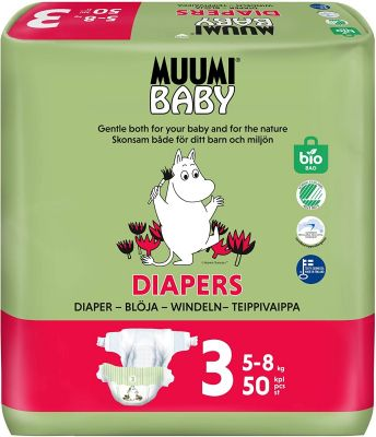 50 PANNOLINI - MUUMI BABY TAGLIA 5/8 KG