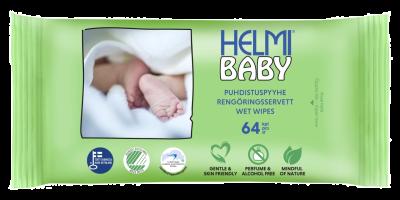 SALVIETTE BIODEGRADABILI 64 pz Helmi Baby
