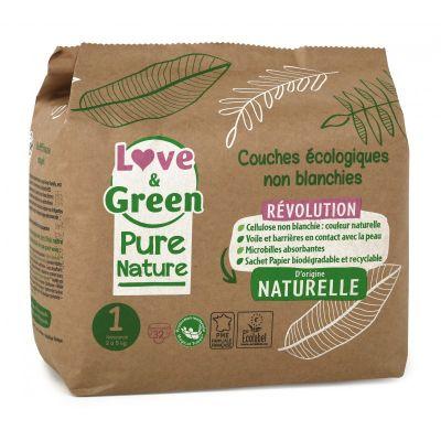 PANNOLINI TAGLIA 1 NEWBORN 2/5 Kg Pure Nature